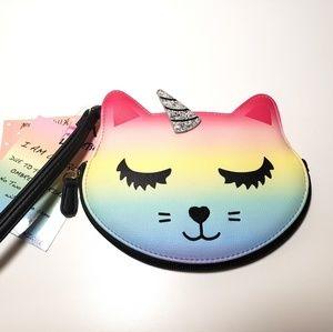 Betsy Johnson Rainbow Kitty Coin purse Wrislet Bag